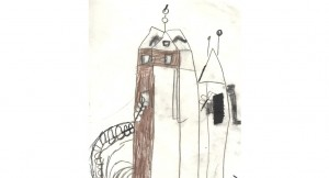 Elliots drawing of stable block tower